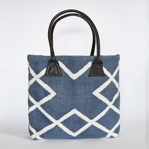 Blue Shopper Bag- made from recycled plastic bottles