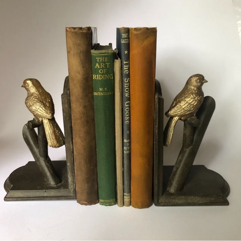 Gold-bird-bookends