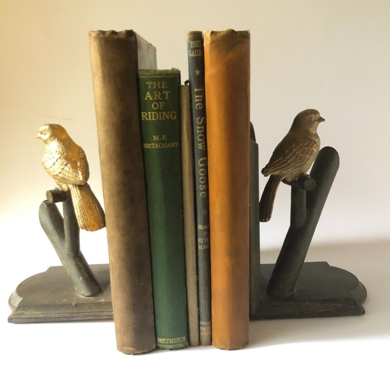 Bird-on-a-branch-bookends