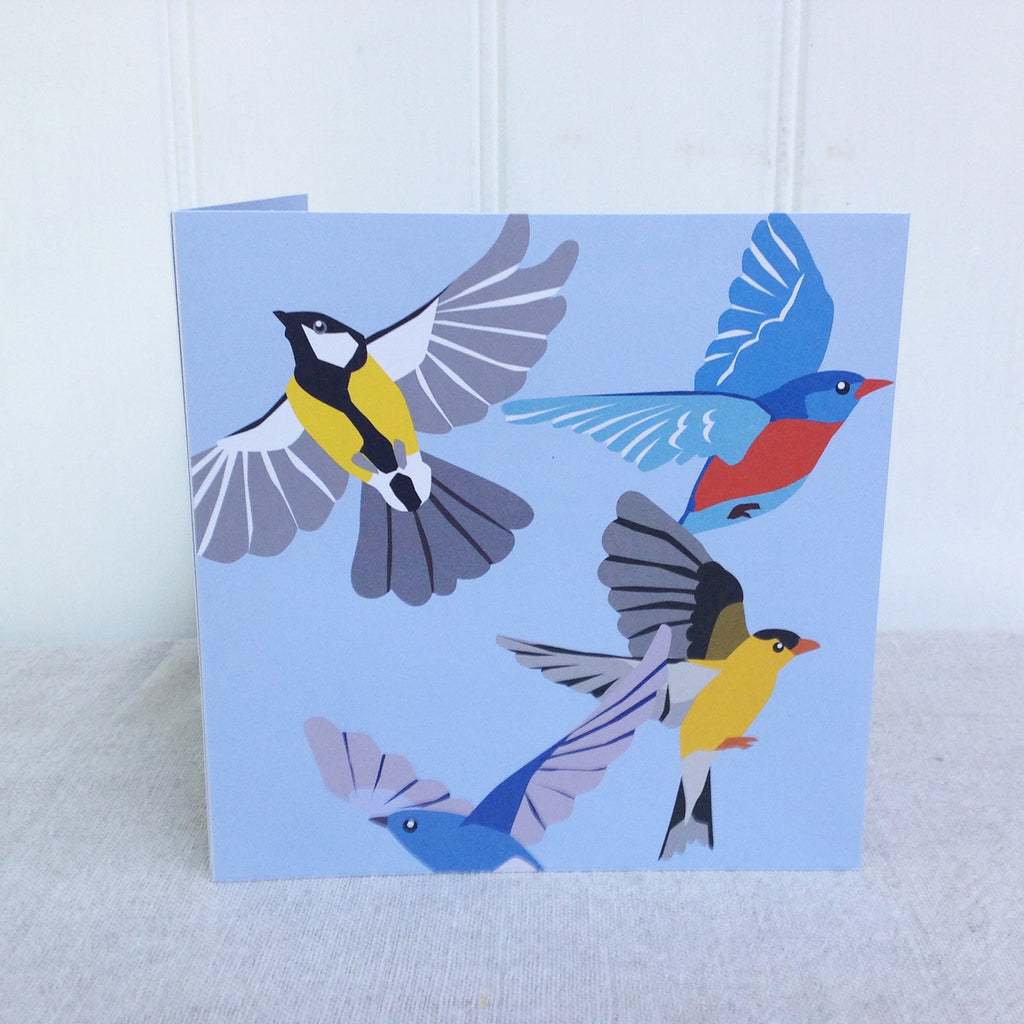 Flock of birds pop up 3D card