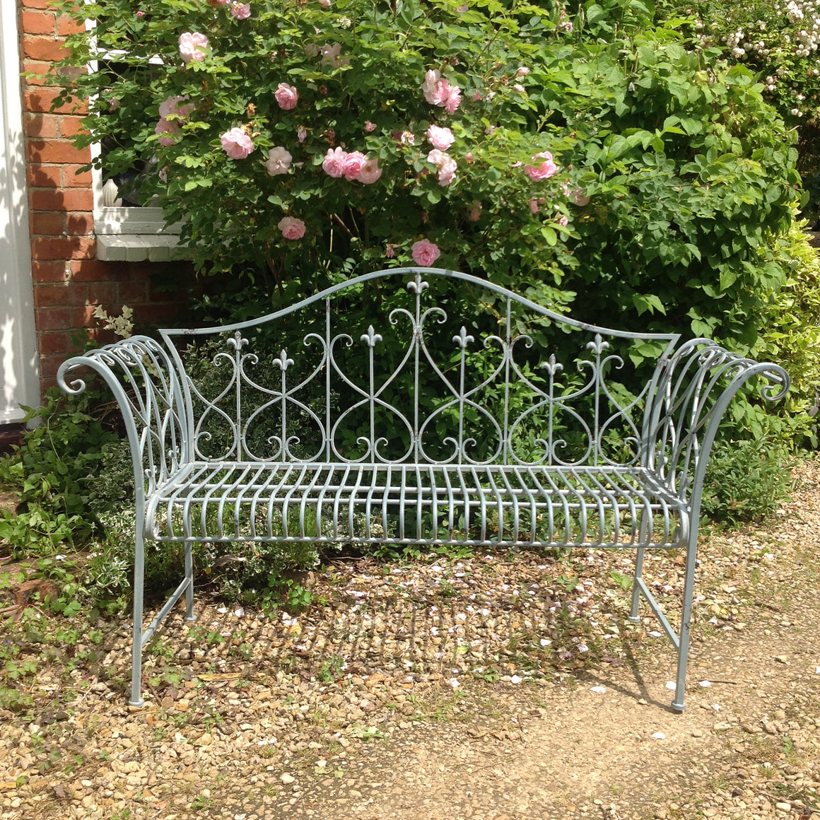 Soft Blue Garden Bench