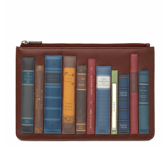 Brown Leather Bookworm Pouch