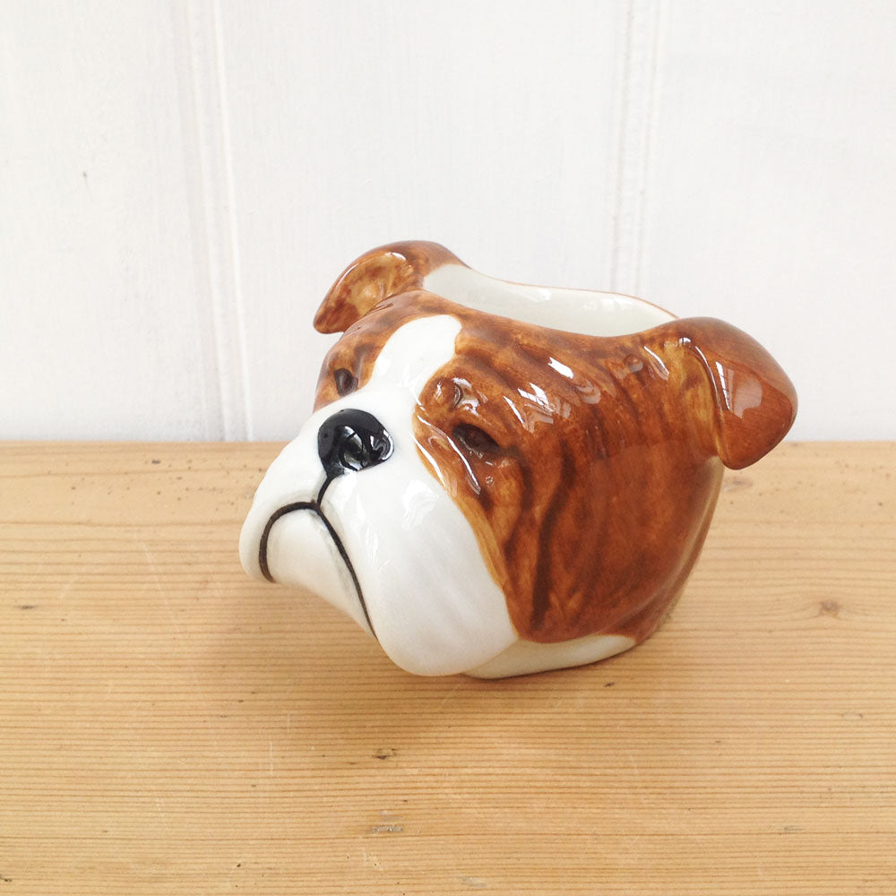 Bull Dog face egg cup