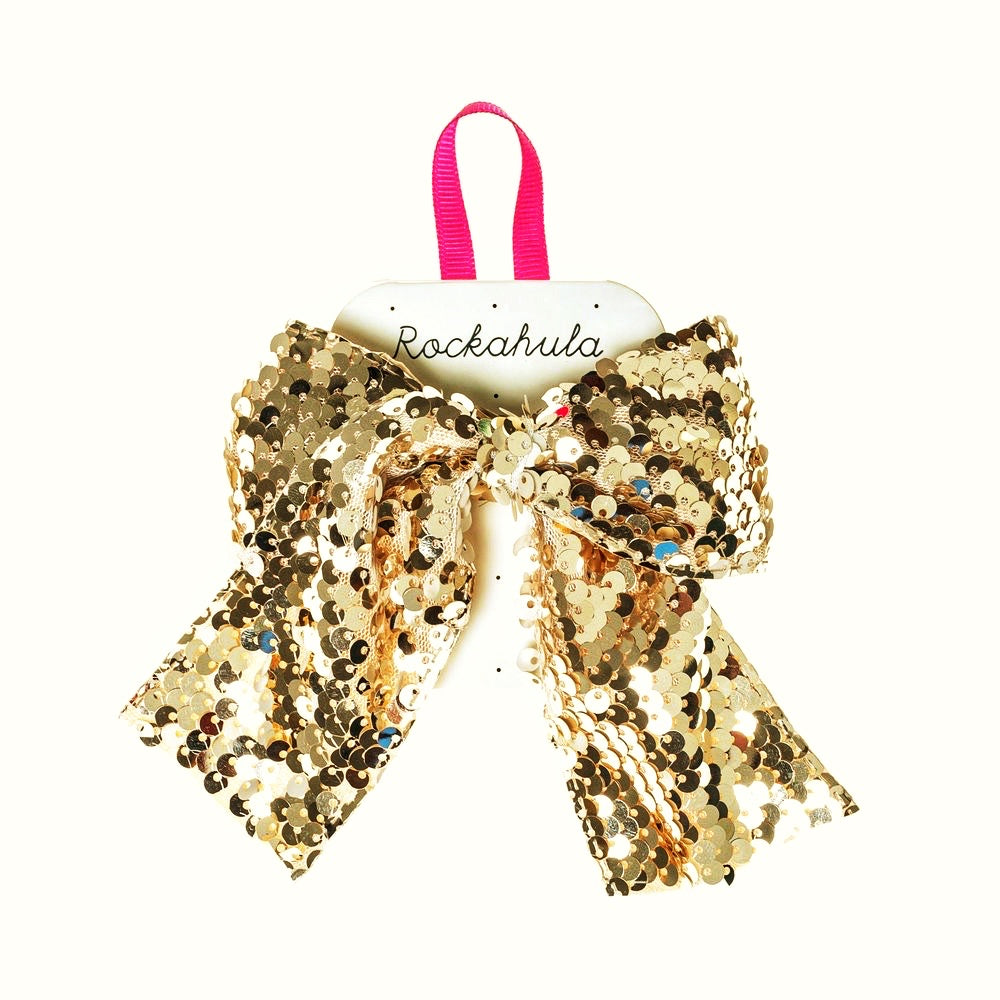 Gold Sequins Bow Clip