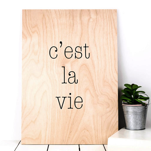 Wooden wall art decoration for the home