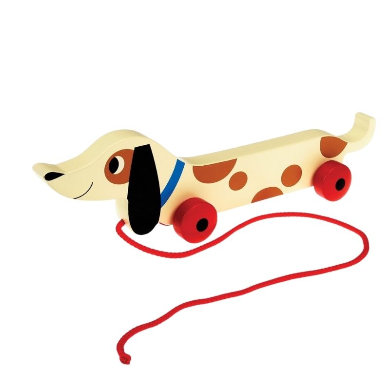 Dachshund Wooden Pull Along Childs Toy