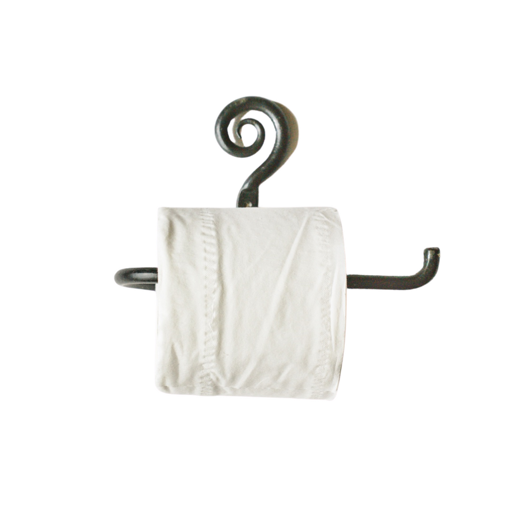Toilet Roll Holder -Curly Tail Antique Iron