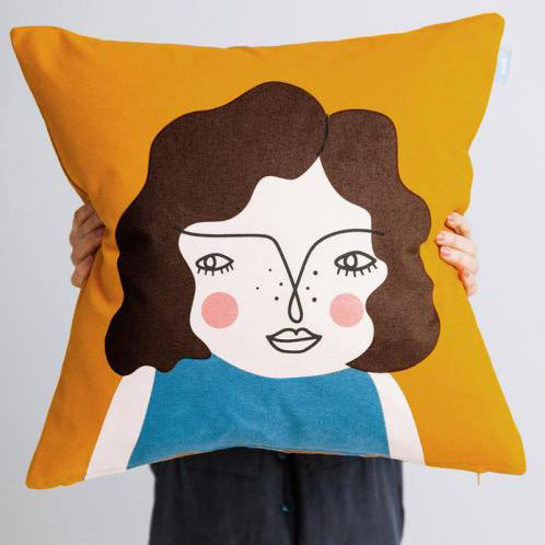 Orange Friend cushion