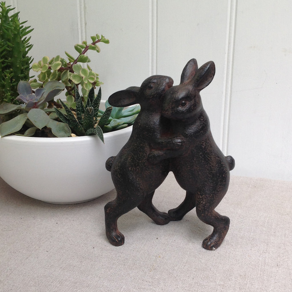 Home decoration- Two rabbits dancing ornament