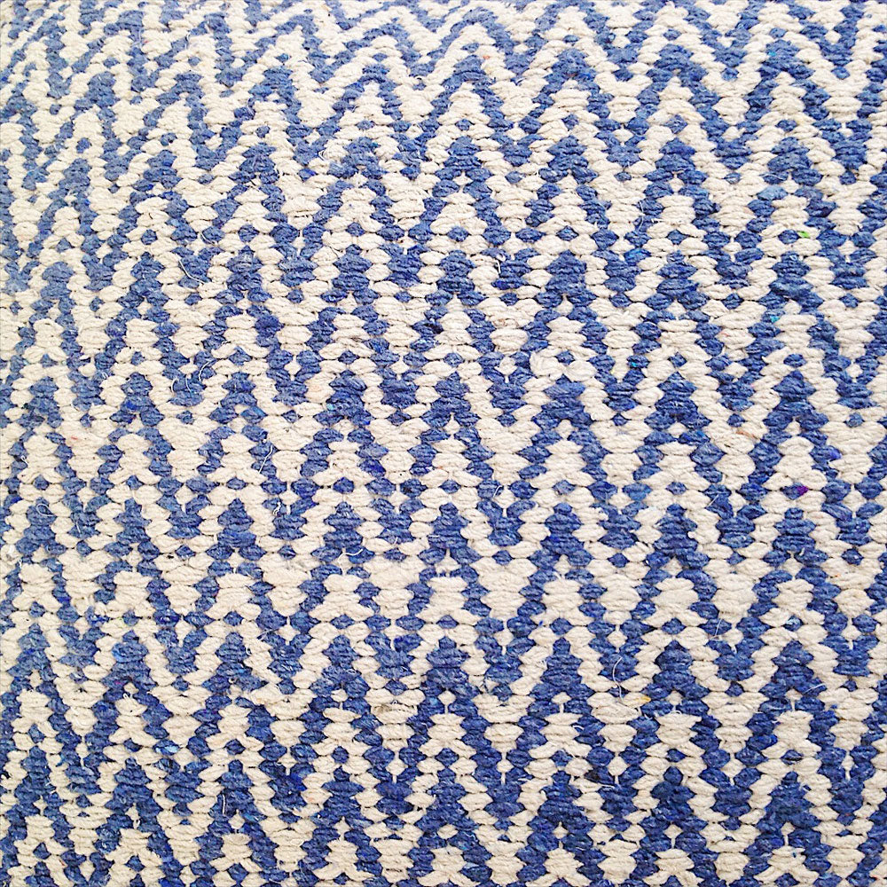 Detail of denim zig zag cushion