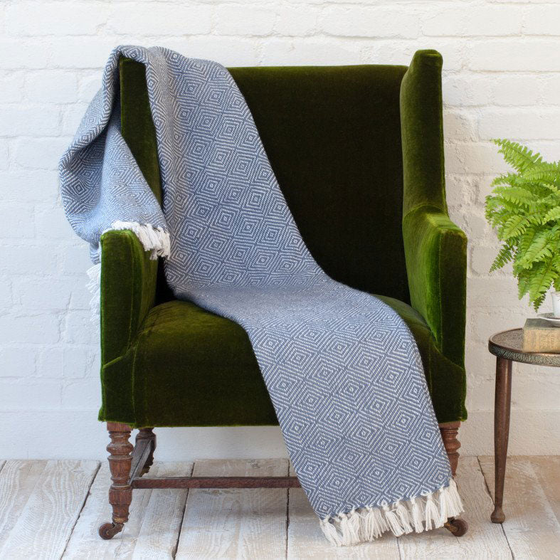 Diamond Throw/Blanket Blue