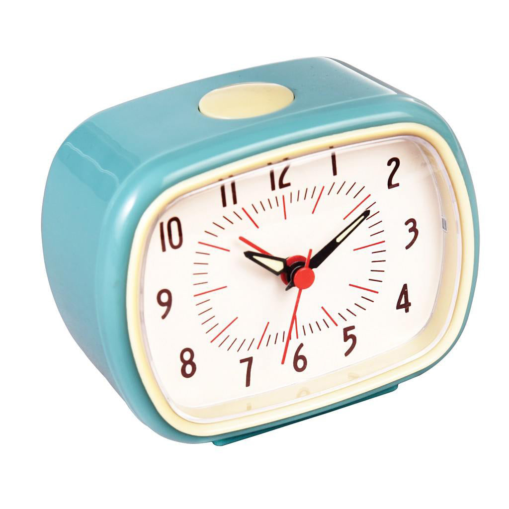 Retro alarm clock in duck egg blue