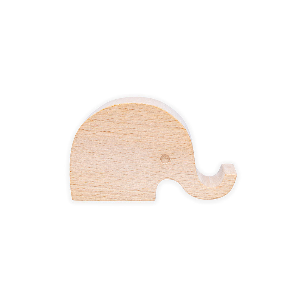 Wooden Elephant Phone Stand
