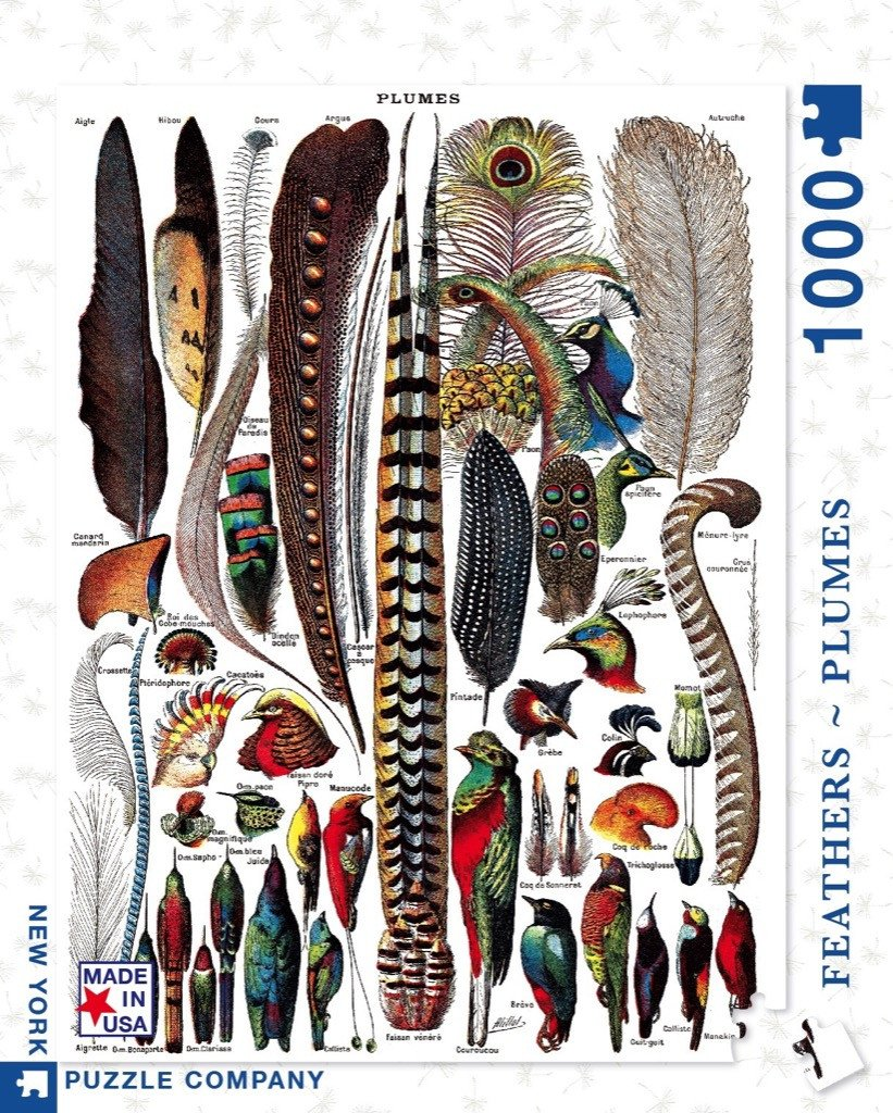 Feathers jigsaw puzzle New York Puzzle Company