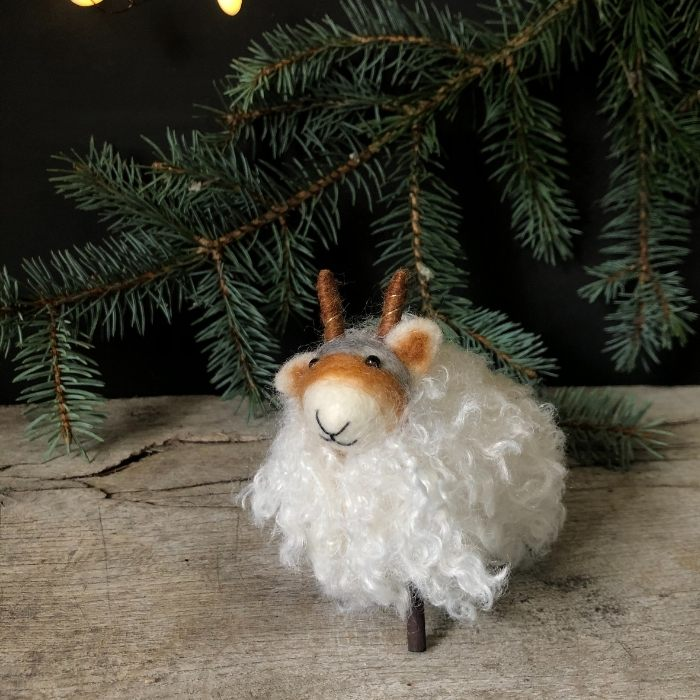 Felt Standing Sheep Decoration