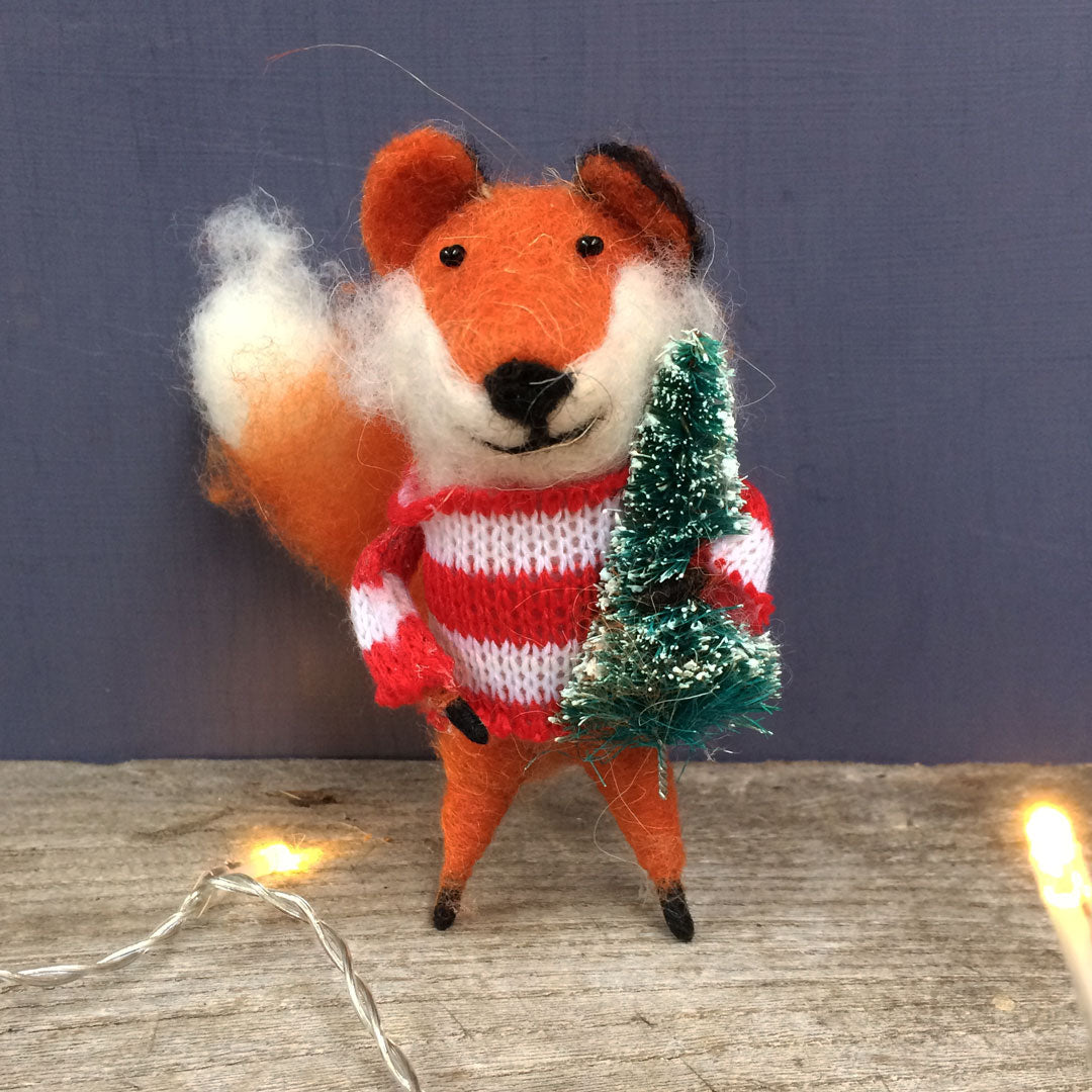 Fox Christmas tree decoration