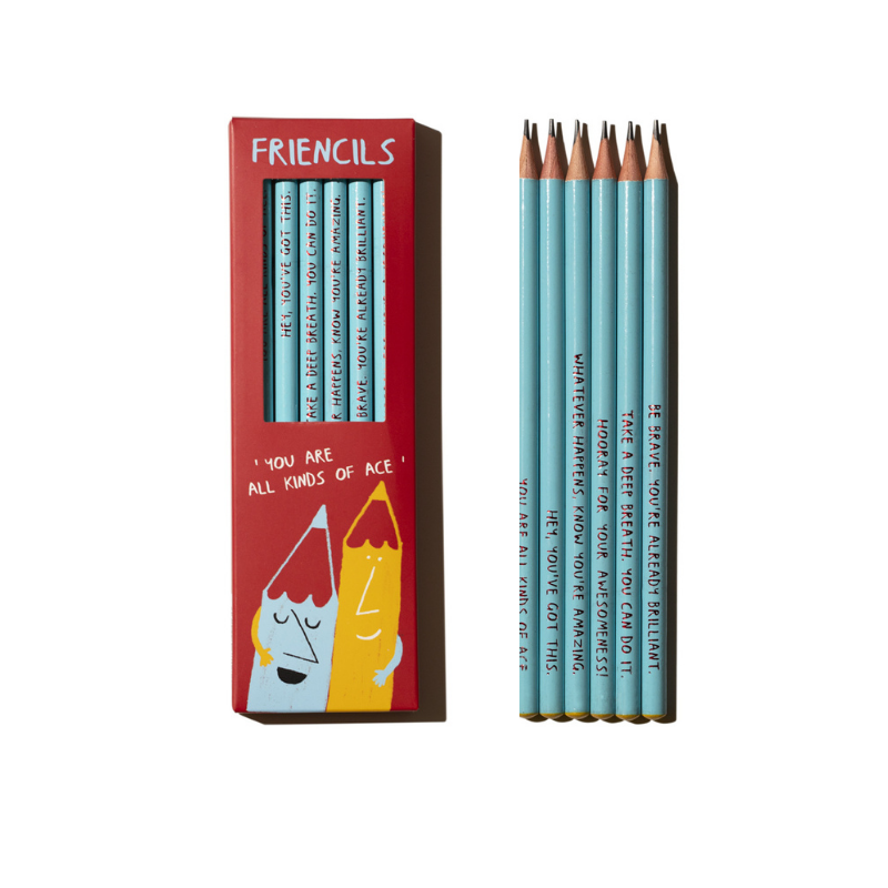 Set of 6 'Friencil' pencils