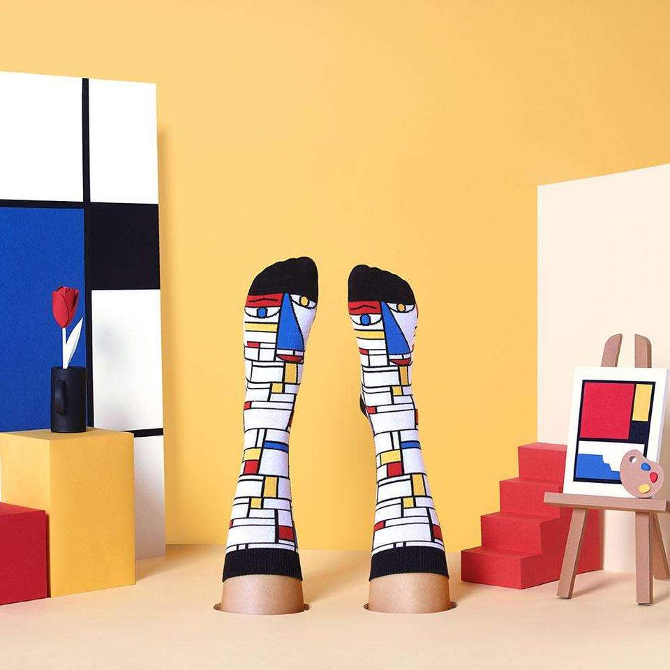 Abstract Feet Mondrian socks