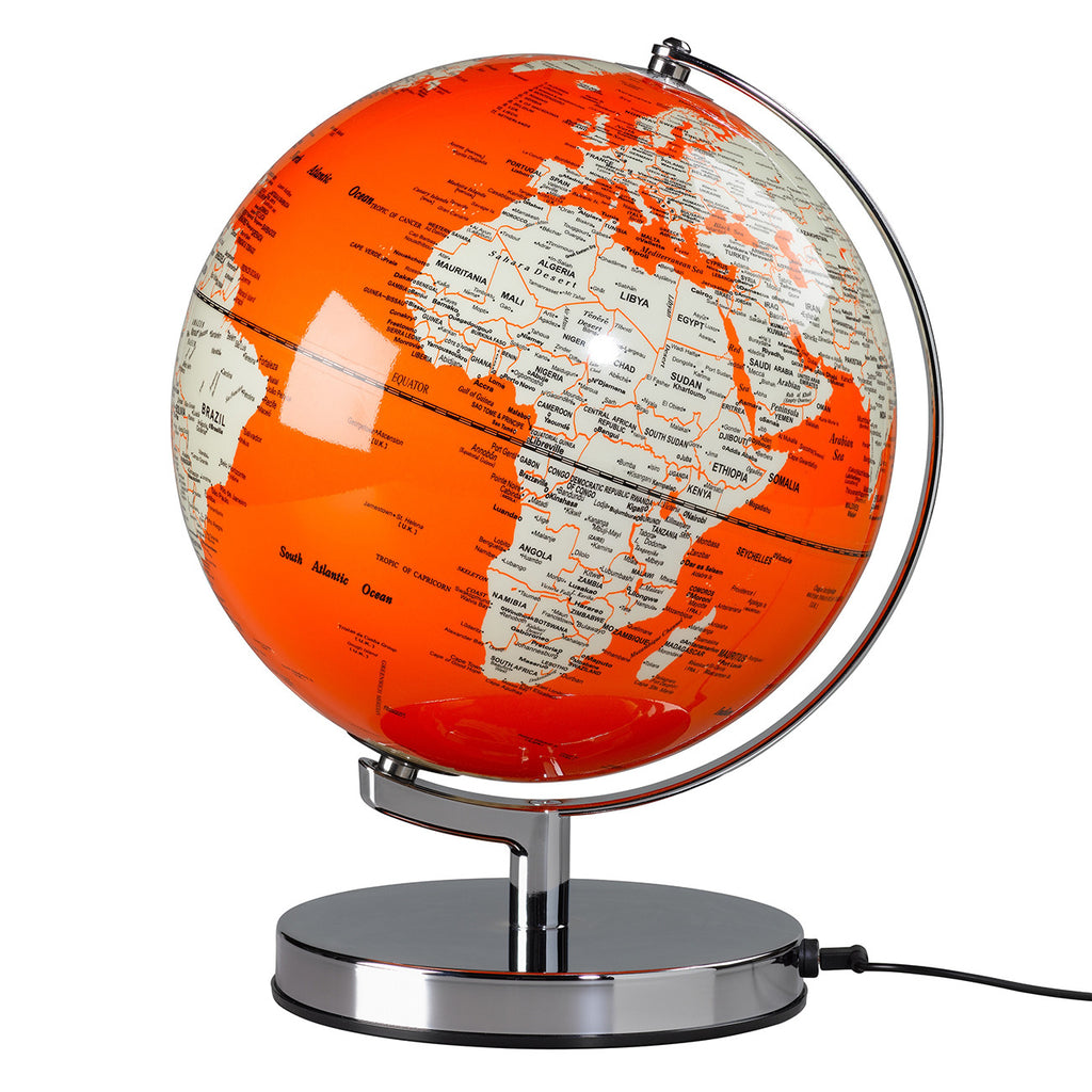 Light up globe - Orange