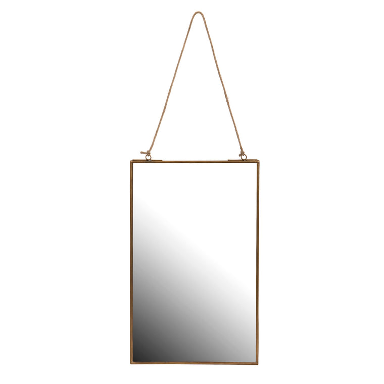 Gold Edged Rectangular Wall Mirror