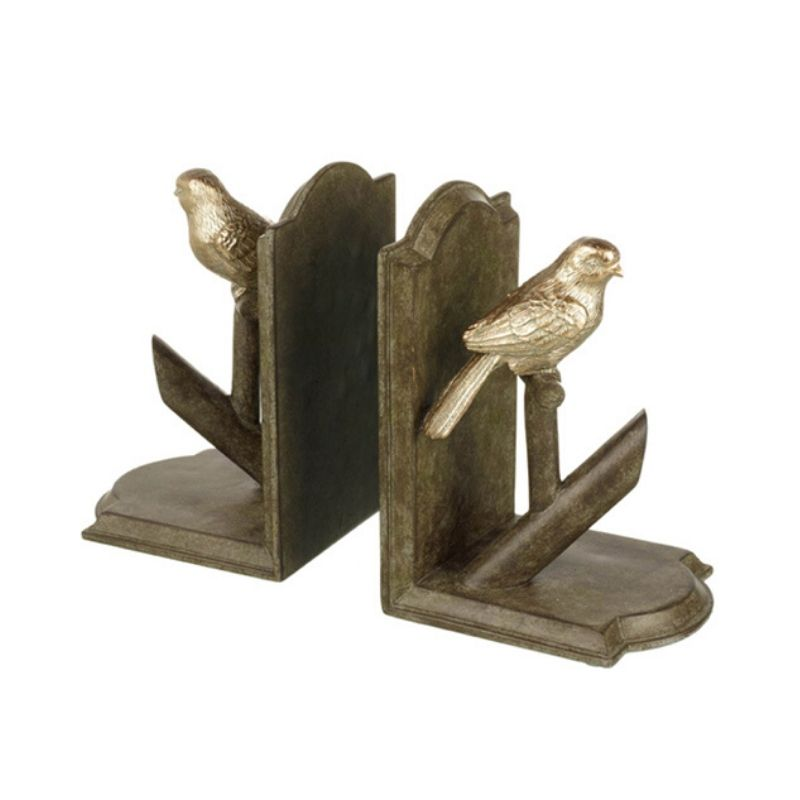 Bird on a branch Bookends