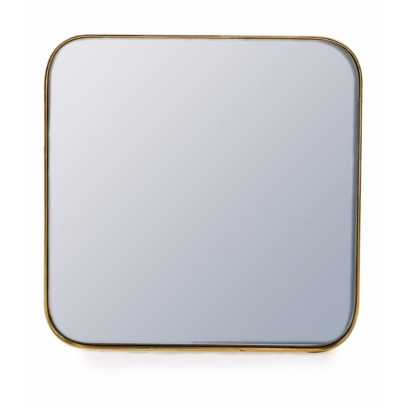 Gold Edged Mirror Square