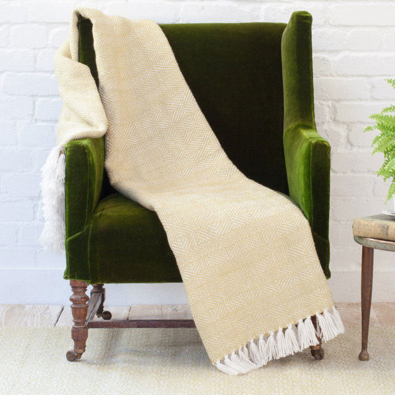 Diamond Blanket/Throw - Gooseberry