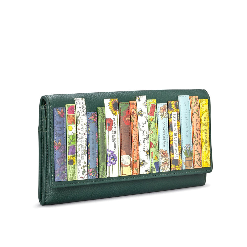 Green Book Flap over leather purse