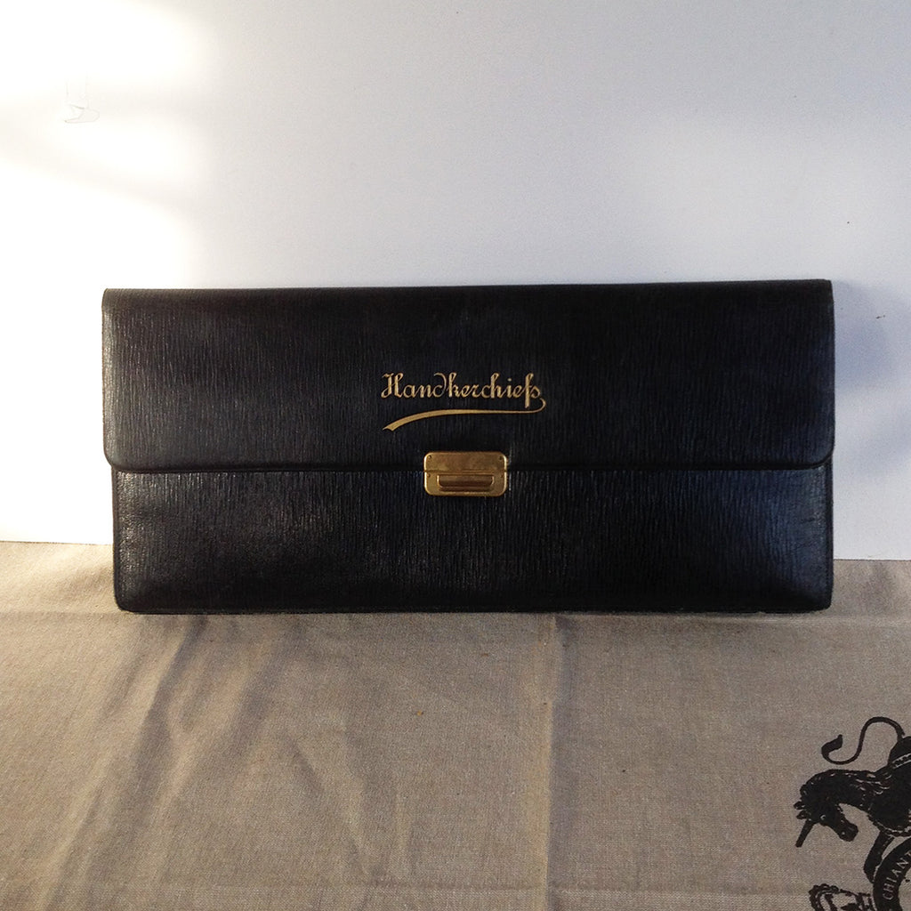 Vintage Leather Case for Gloves and Handkerchiefs