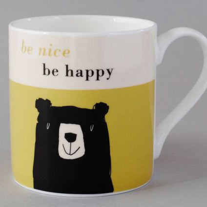 Be Happy Bear Mug
