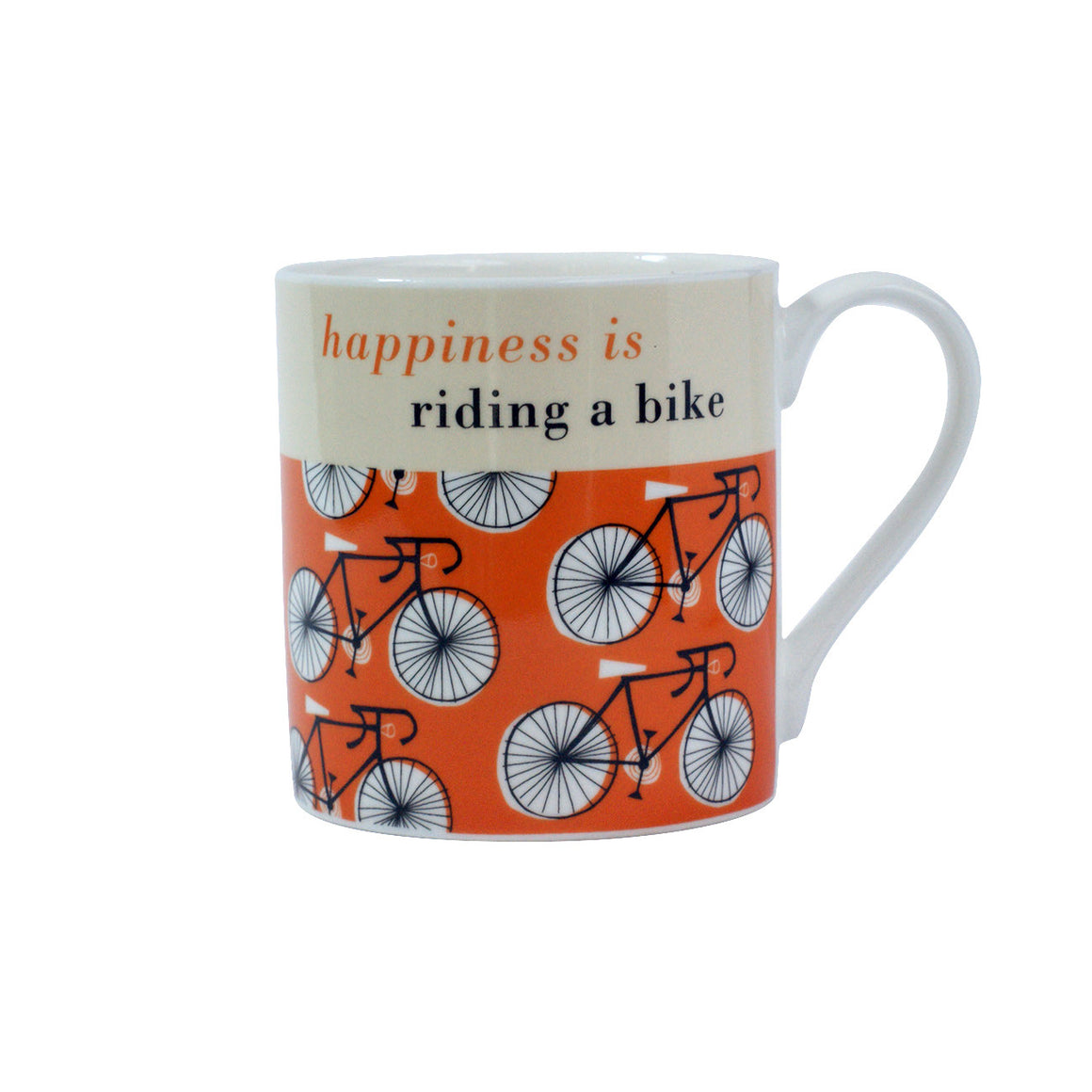 Happiness is riding a bike- mug