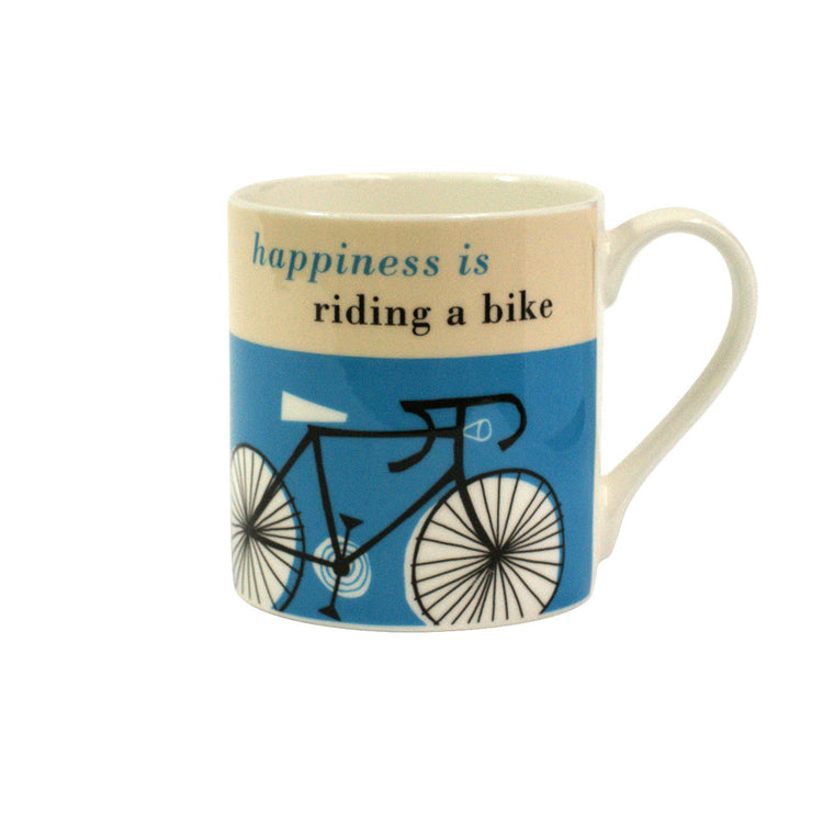 Mug -Happiness is riding a bike