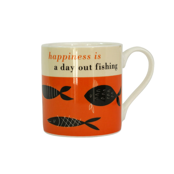 Mug - Happiness is a day out fishing