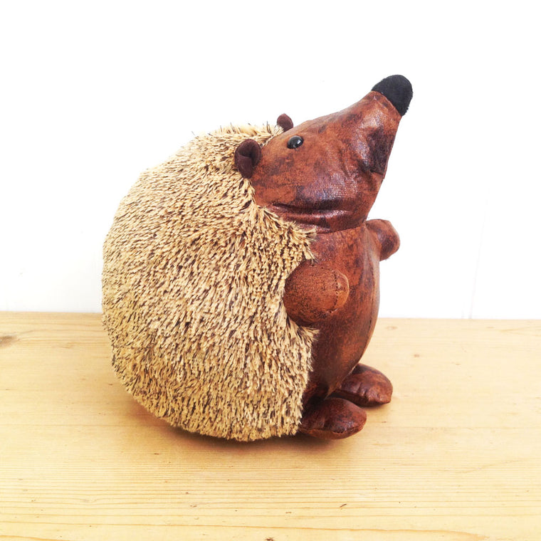 Hedgehog Door stop -leather look