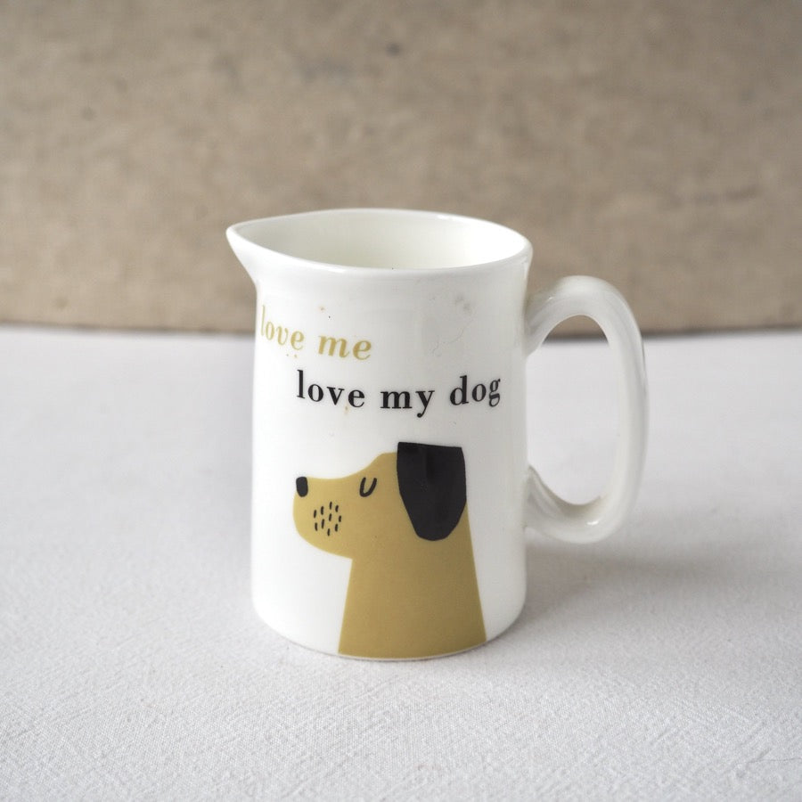 Mini Jug - love me love my dog