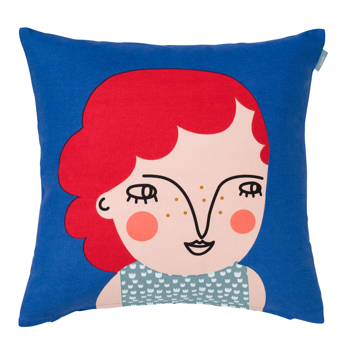 Lilly- Blue face cushion from Sweden