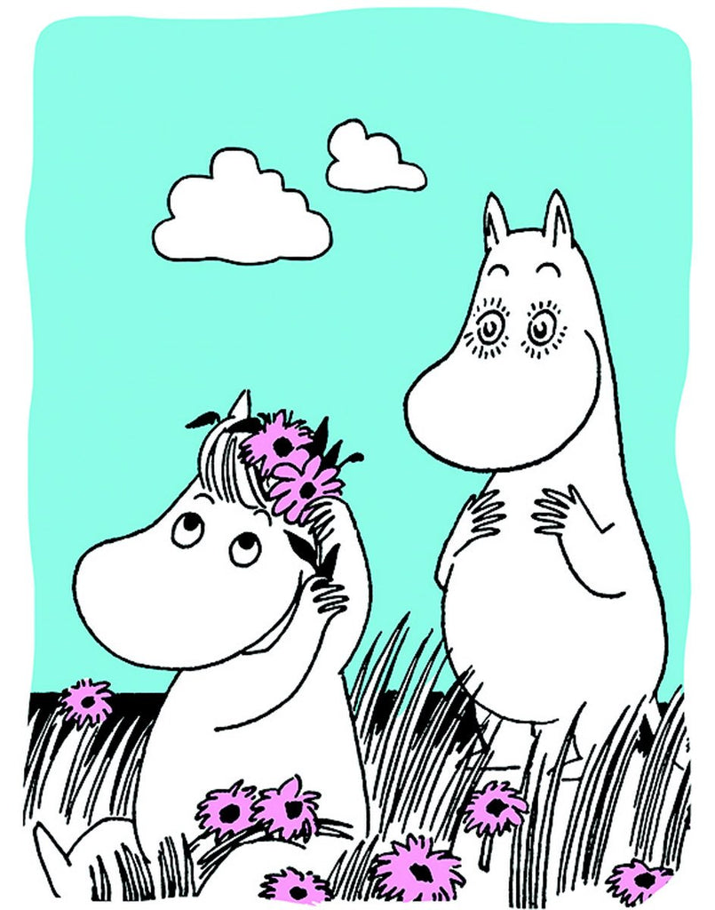Moomin wearing flowers