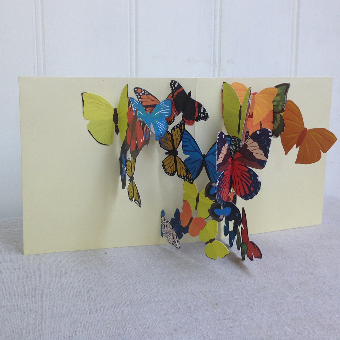 Yellow Butterflies 3D Pop Up greetings card