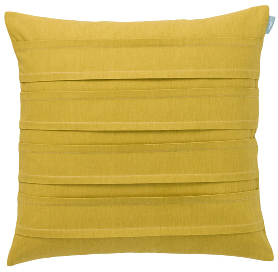 Luxury Golden mustard pleated cushion