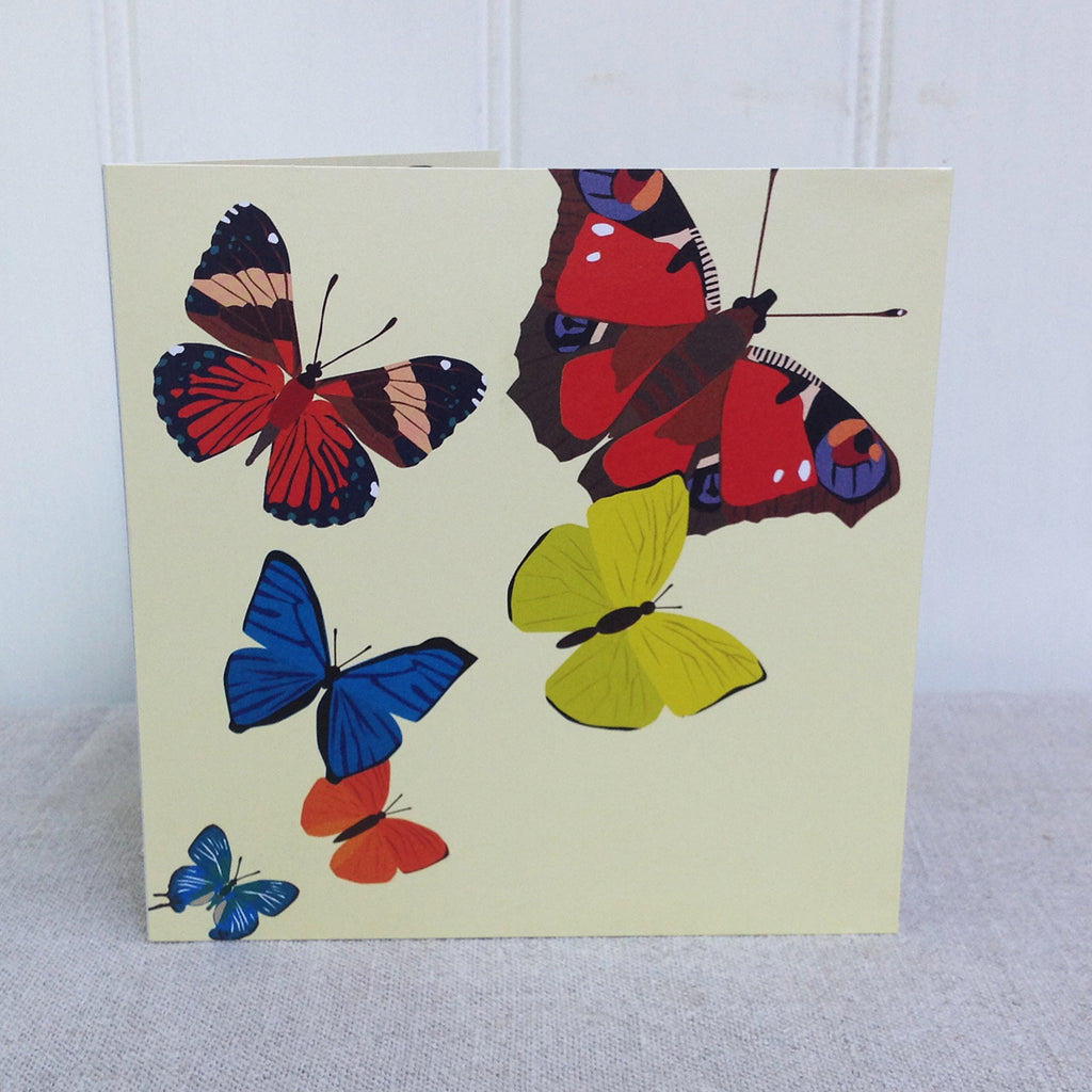Yellow Butterflies Pop Up 3D greeting card