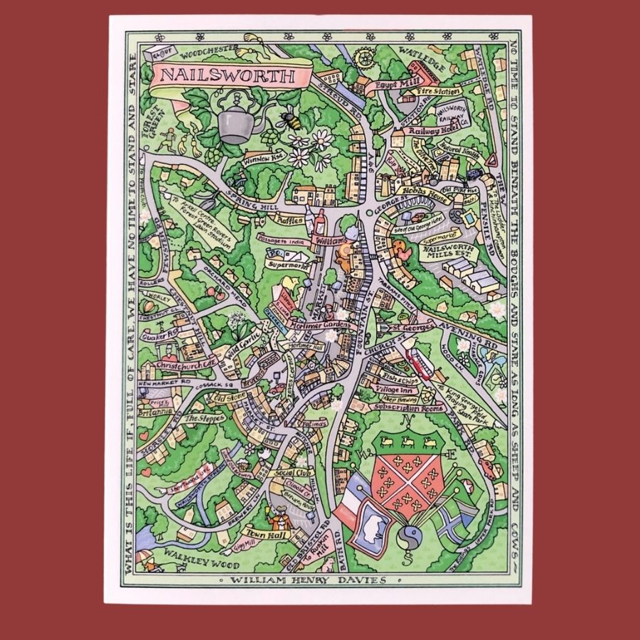 Nailsworth Map Print