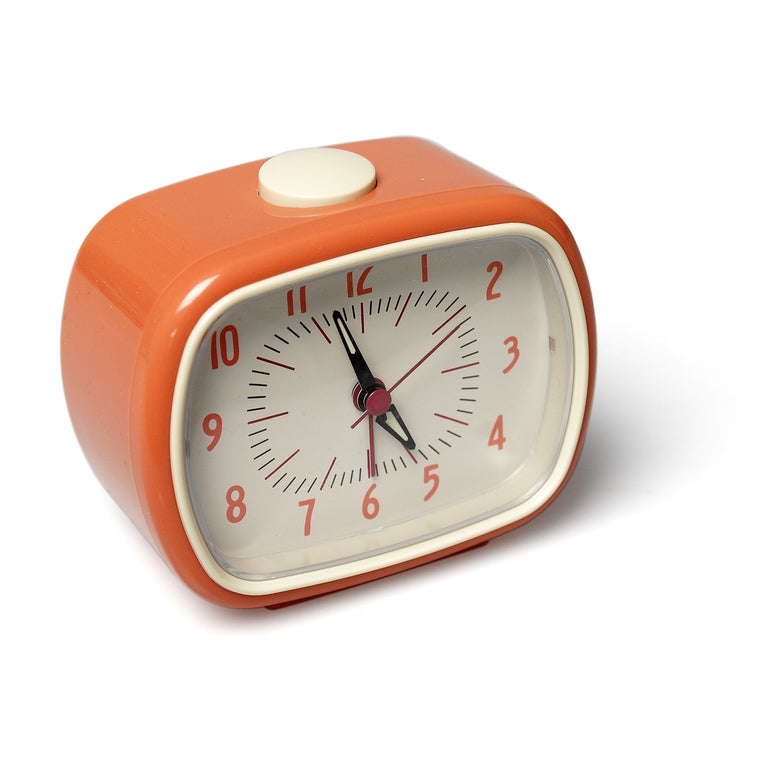 Orange retro alarm clock