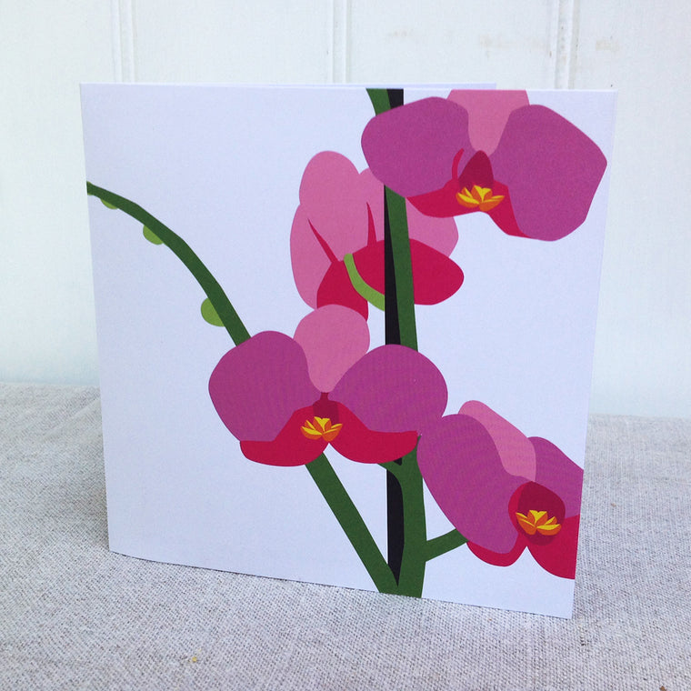Pop up Orchid Greetings Card
