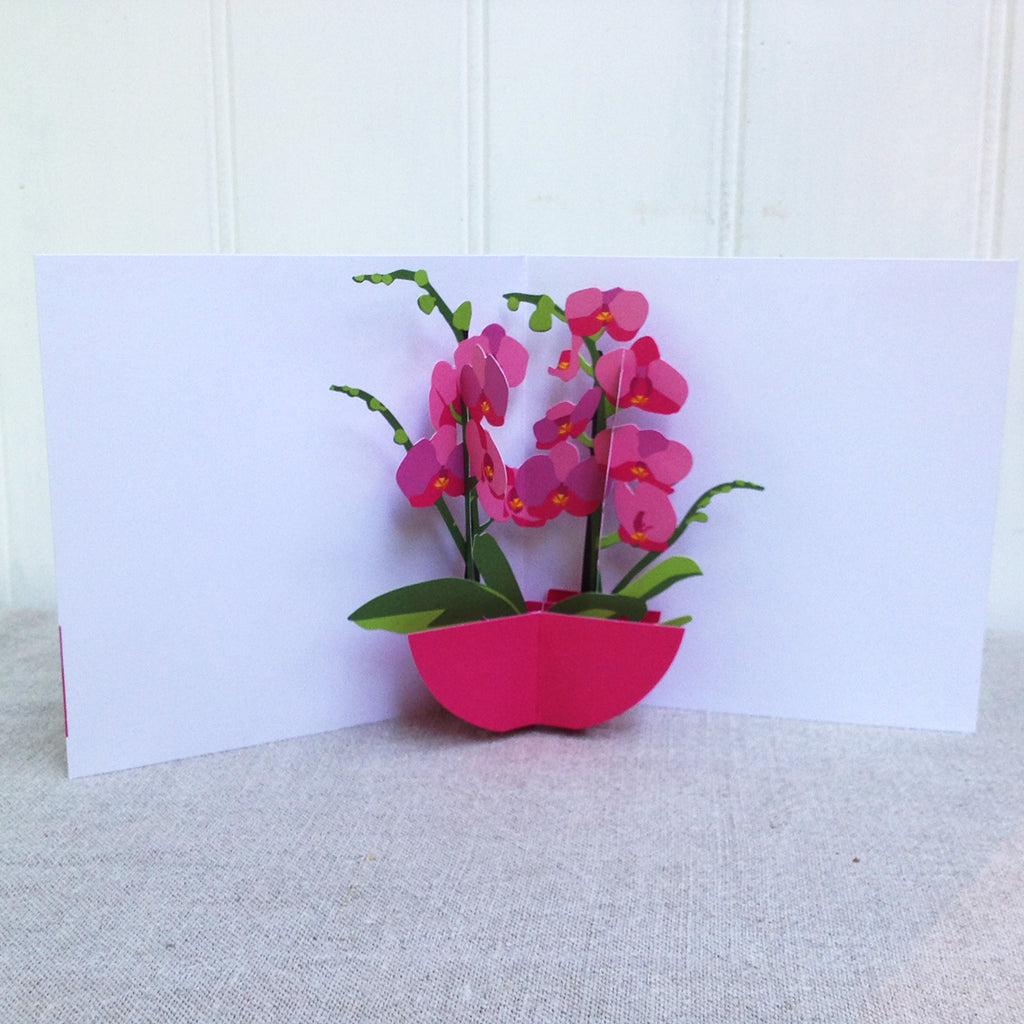 Orchid 3D Pop up card