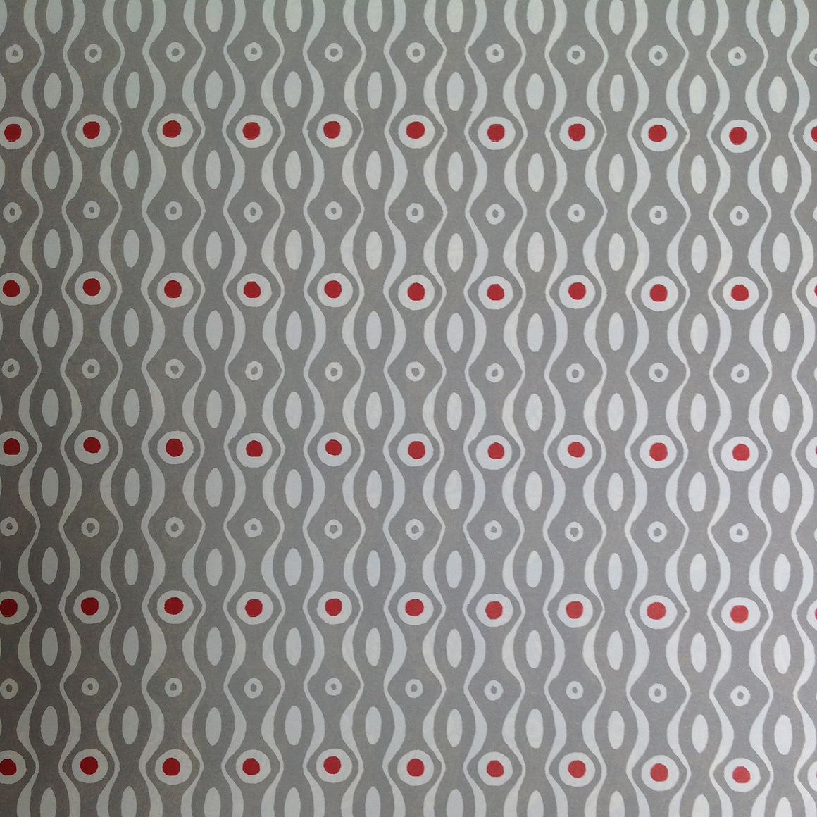 Cambridge Imprint- Gift wrap Persephone - Grey - Red Hen Trading