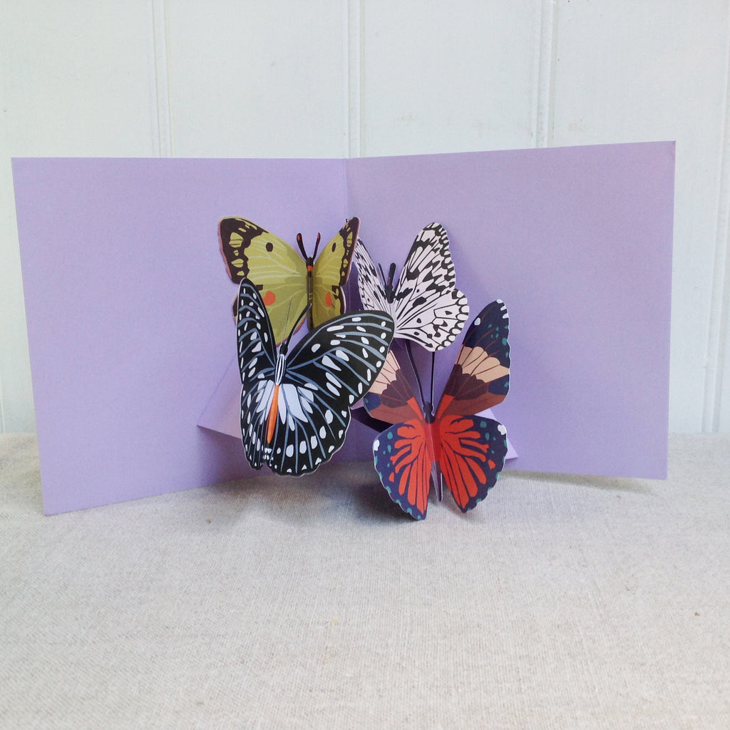 3D Pop up Butterflies card