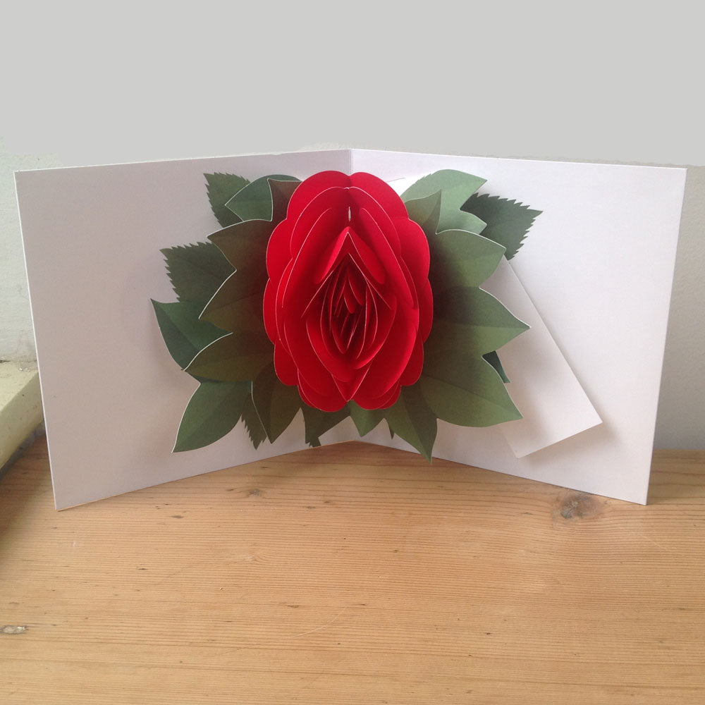 Red Rose luxury pop up card-valentines, special occasion