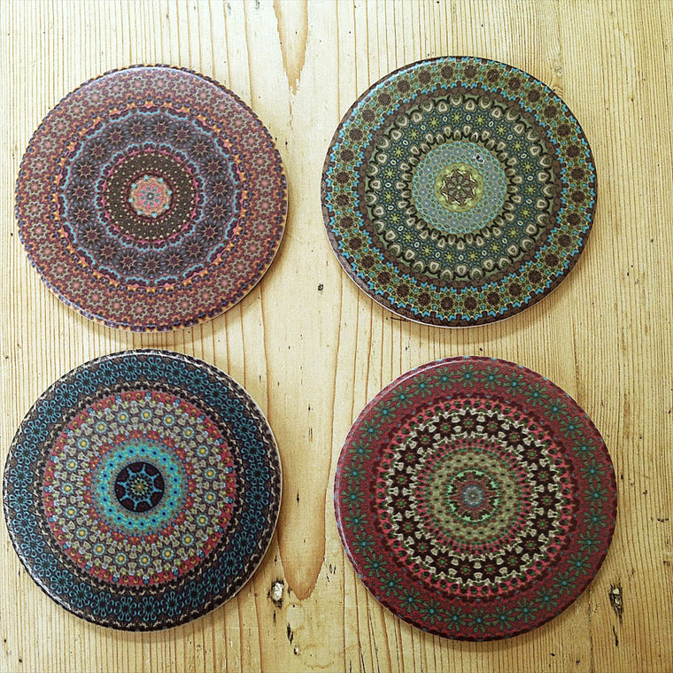 Morrocan style coasters - set of 4