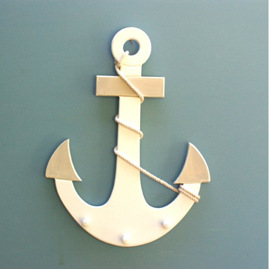 Anchor wall hooks, nautical hooks