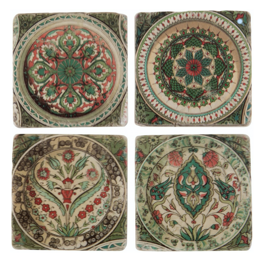 Iznik Coasters- Green